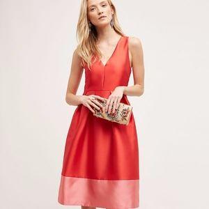 Anthropologie / Maeve Roseblock Cross-Back Dress